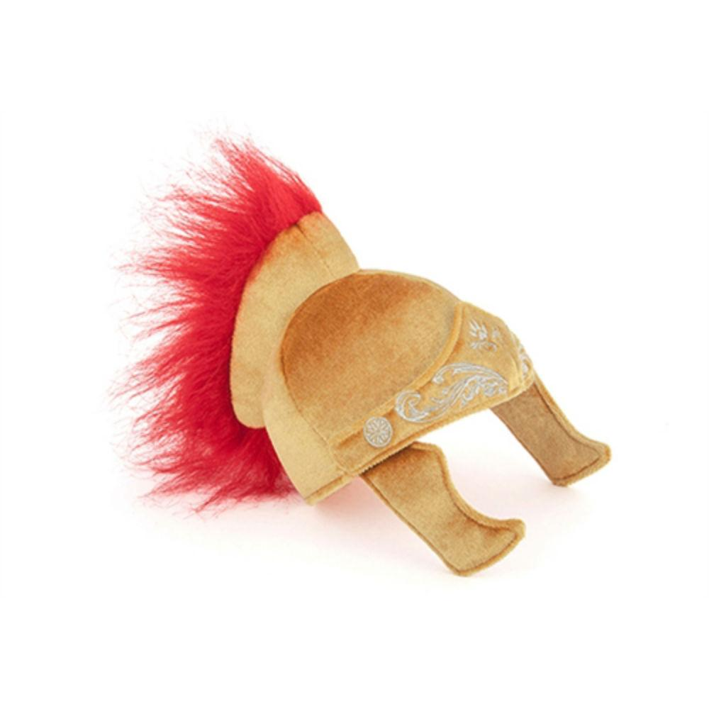 Mutt Hatter Gladiator Plush Dog Toy and Hat
