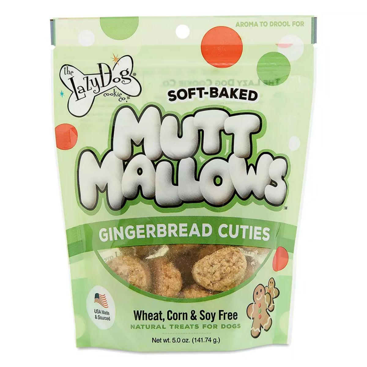 Lazy Dog Mutt Mallows Soft-Baked Dog Treats - Gingerbread Cuties