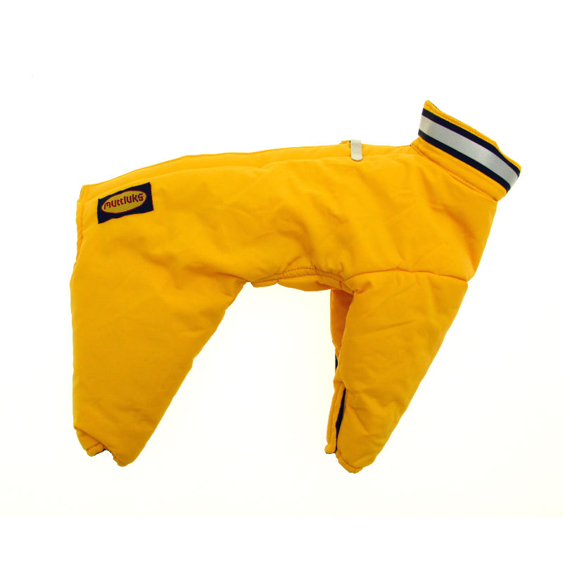 Muttluks Reversible Dog Snowsuit - Yellow / Black