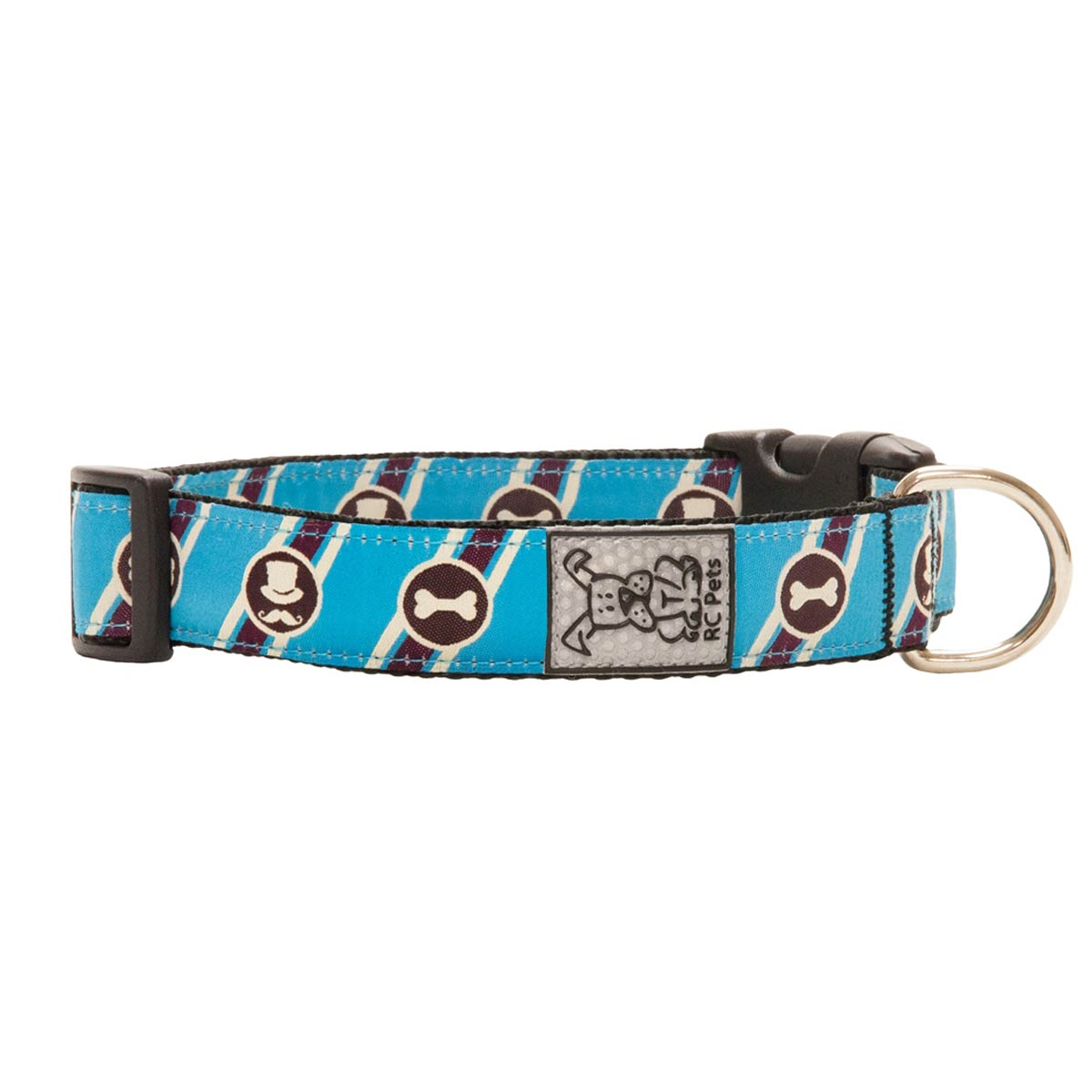 Muttropolitan Adjustable Clip Dog Collar by RC Pet - Blue