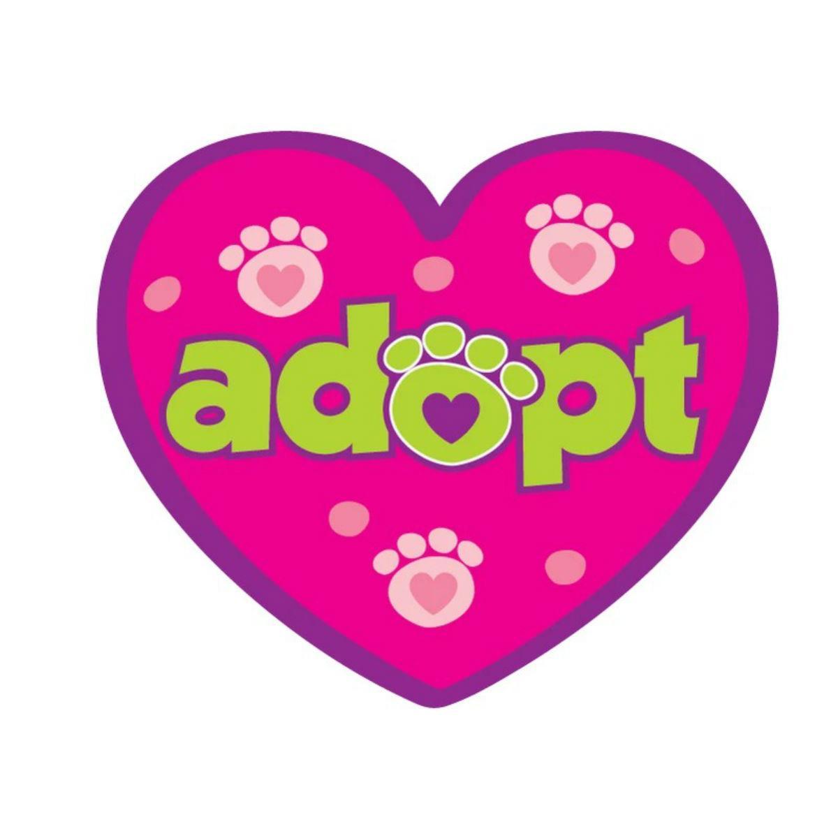 Adopt Sticker by Dog Speak - Pink