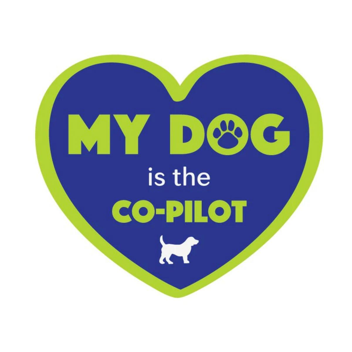 My Dog is the Co-Pilot Sticker by Dog Speak