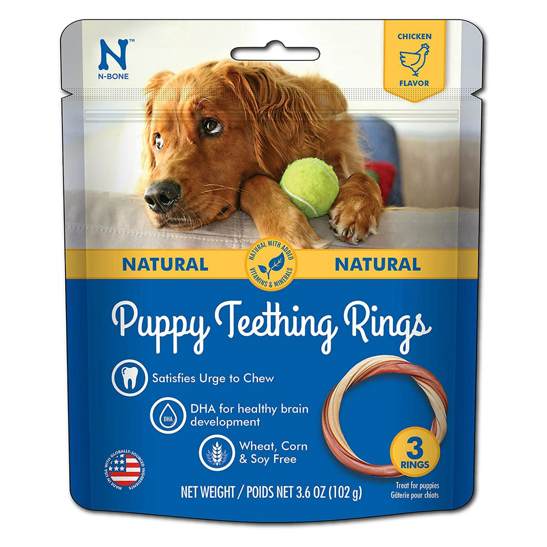N-Bone Puppy Teething Ring Dog Treat - Chicken Flavor
