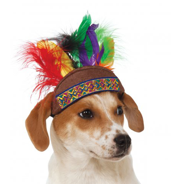 Rubie's Native American Headdress Dog and Cat Hat