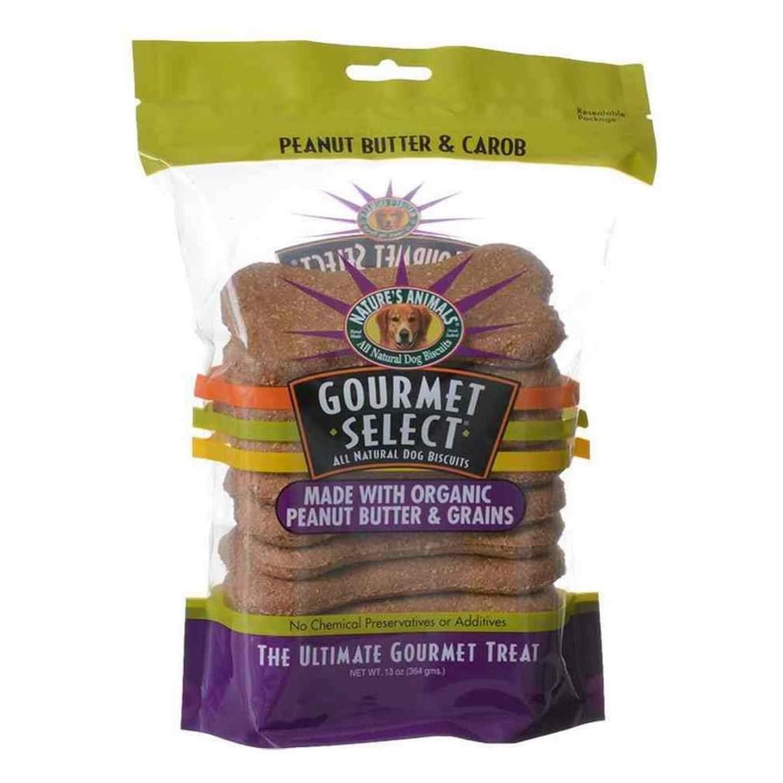 Nature's Animals Gourmet Select Dog Treat - Peanut Butter/Carob