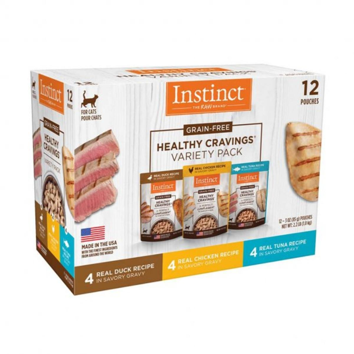 Nature's Variety Instinct Healthy Cravings Cat Food Topper - Variety Pack