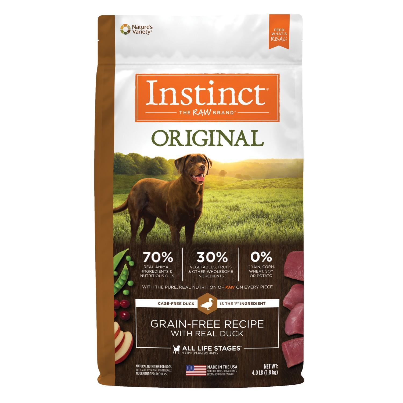 Nature's Variety Instinct Original Grain-Free Recipe Dog Food - Real Duck