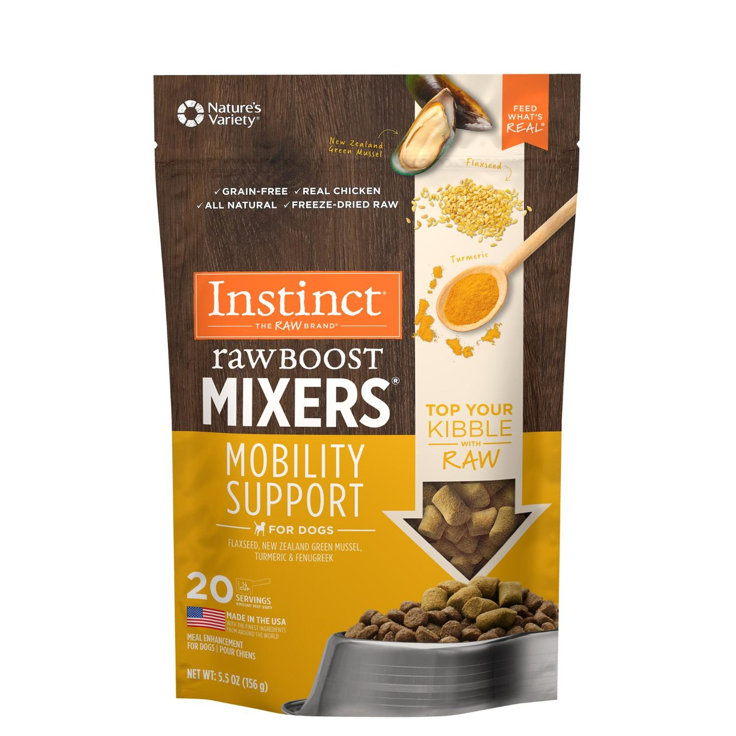Nature's Variety Instinct Raw Boost Mixers Dog Food Topper - Mobility Support