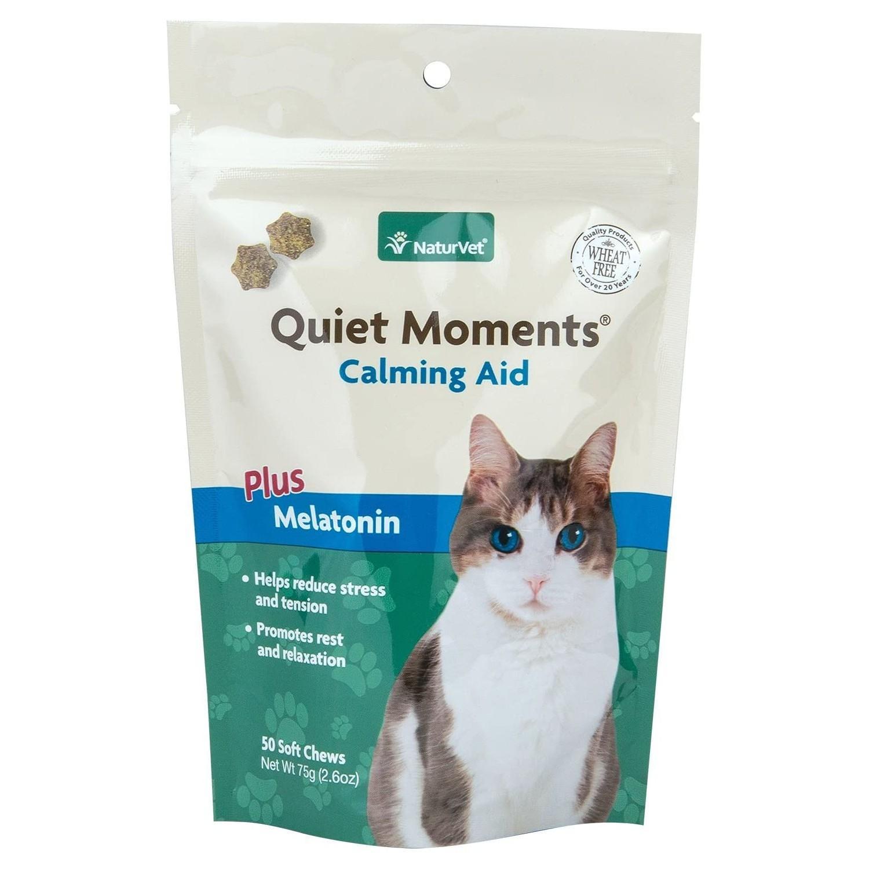 NaturVet Quiet Moments Calming Soft Cat Chew Plus Melatonin