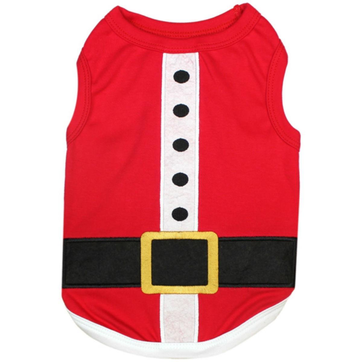 Santa's Outfit Dog Tank by Parisian Pet - Red