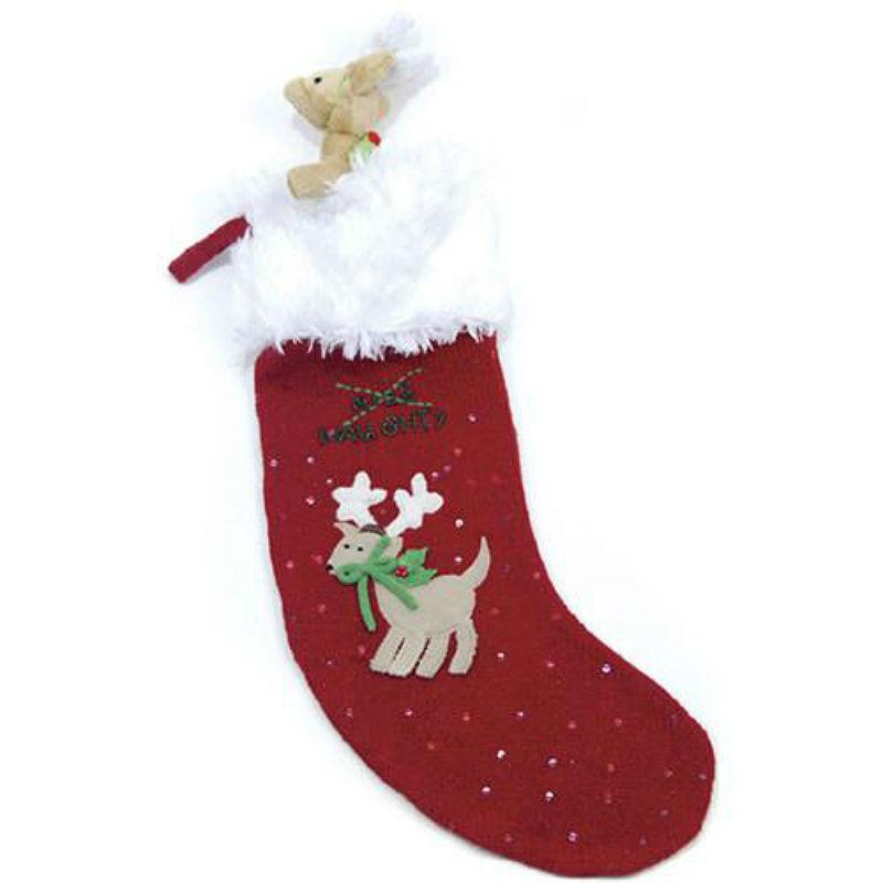 Naughty or Nice Stocking and Dog Toy By Oscar Newman