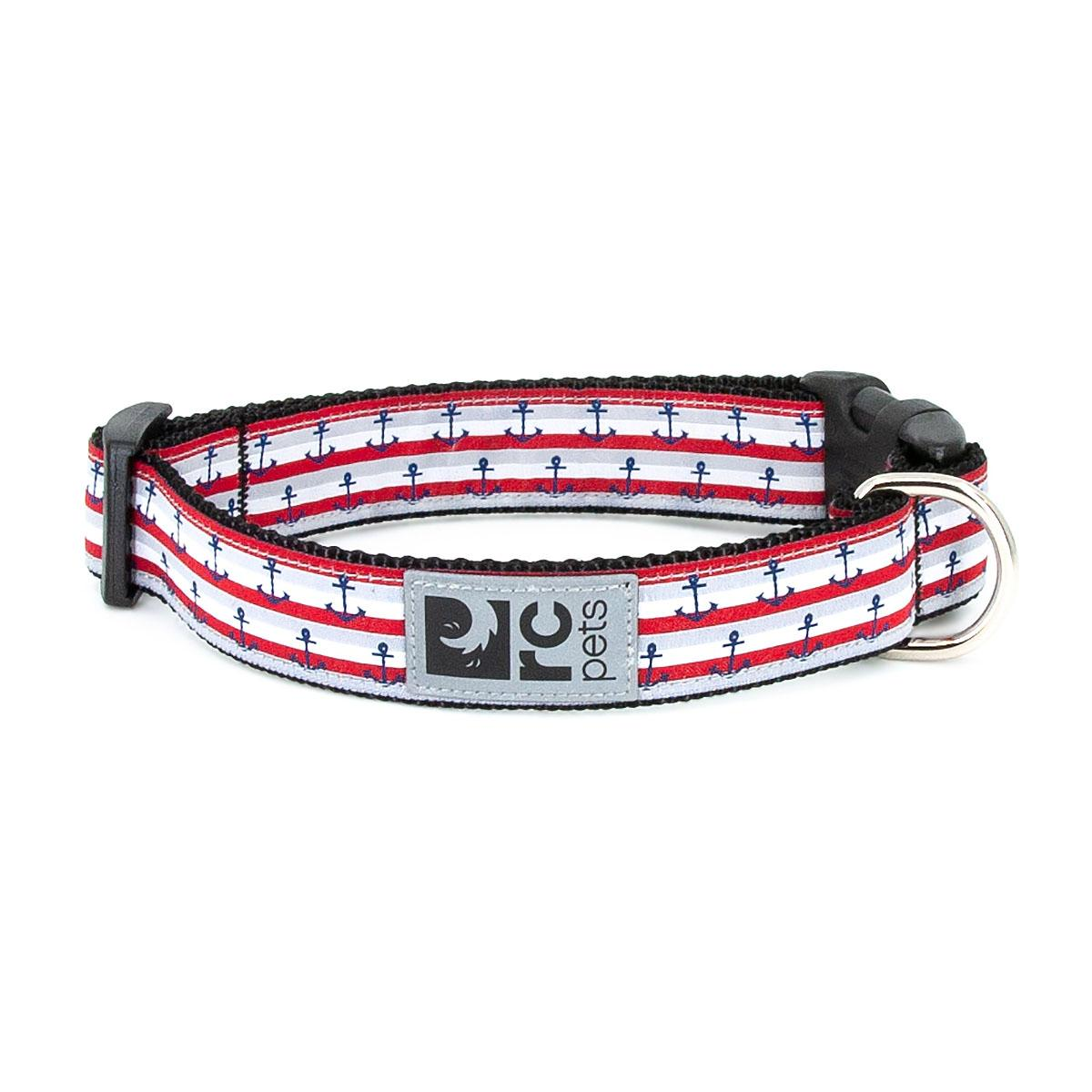 Nautical Adjustable Clip Dog Collar By RC Pets