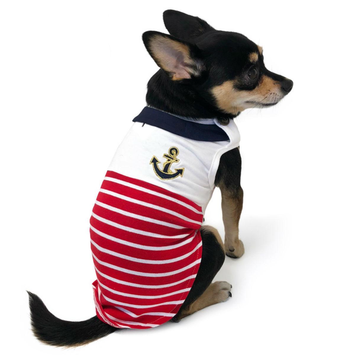 Nautical Stripe Dog Tank by Dogo