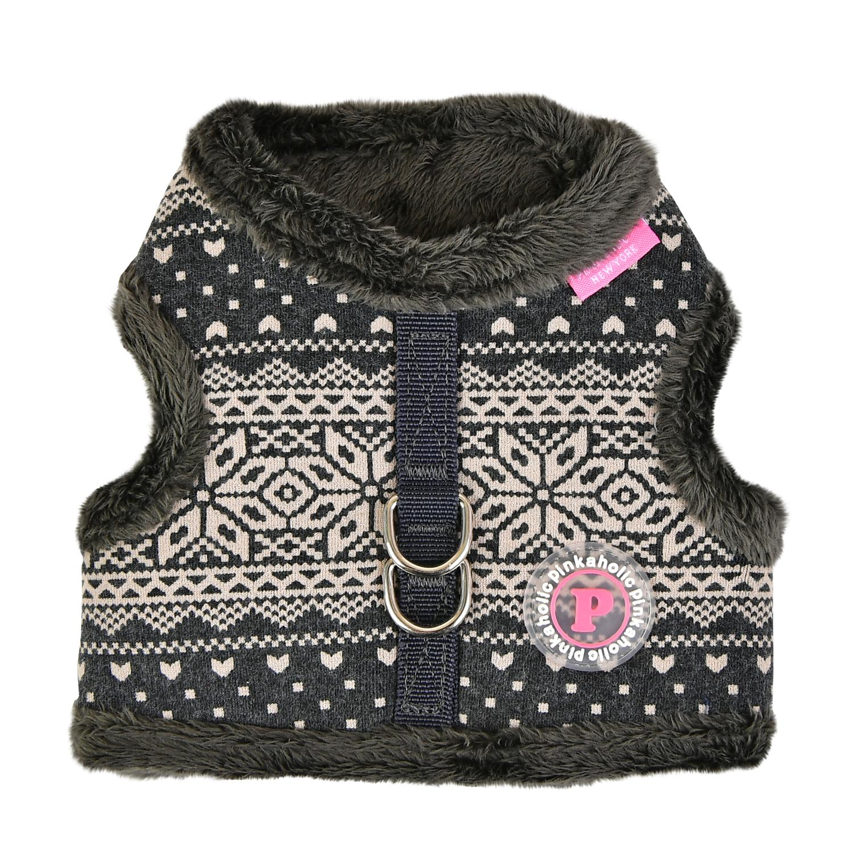 Neige Pinka Dog Harness by Pinkaholic - Charcoal Gray