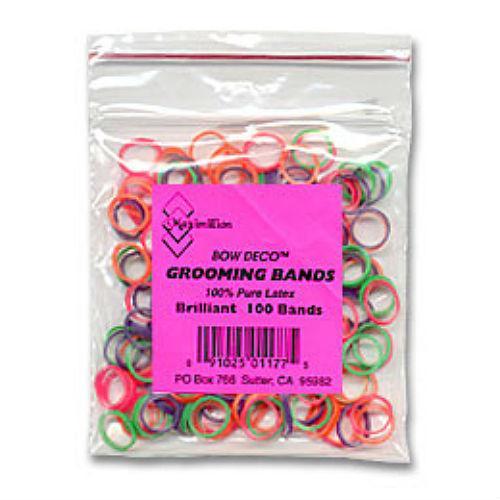 Neon Latex Dog Hair Bands