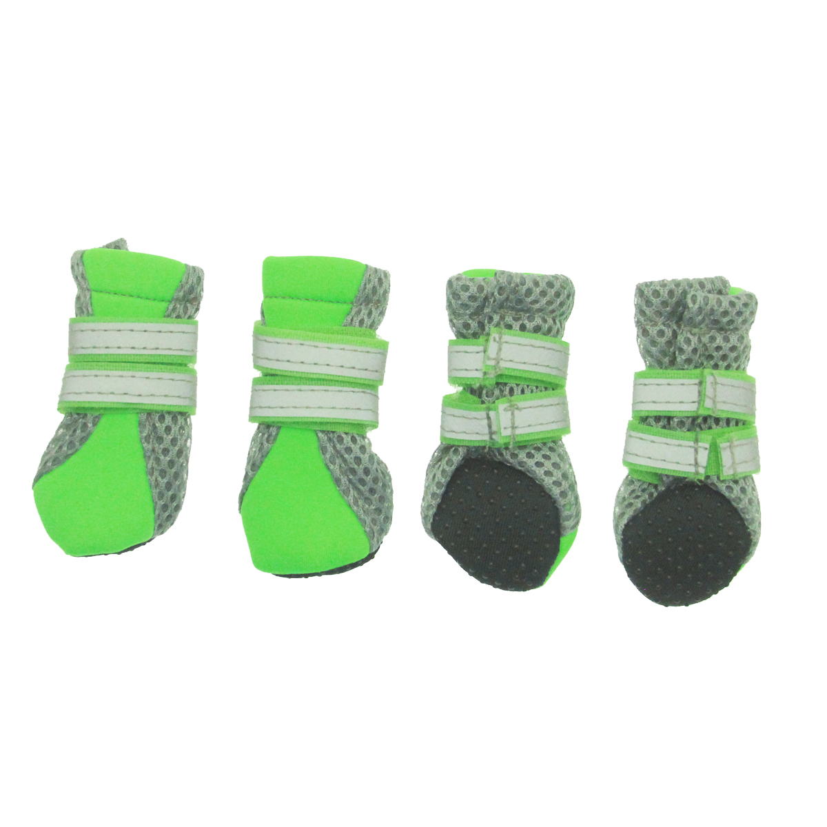 Neon Neoprene Dog Boots - Green