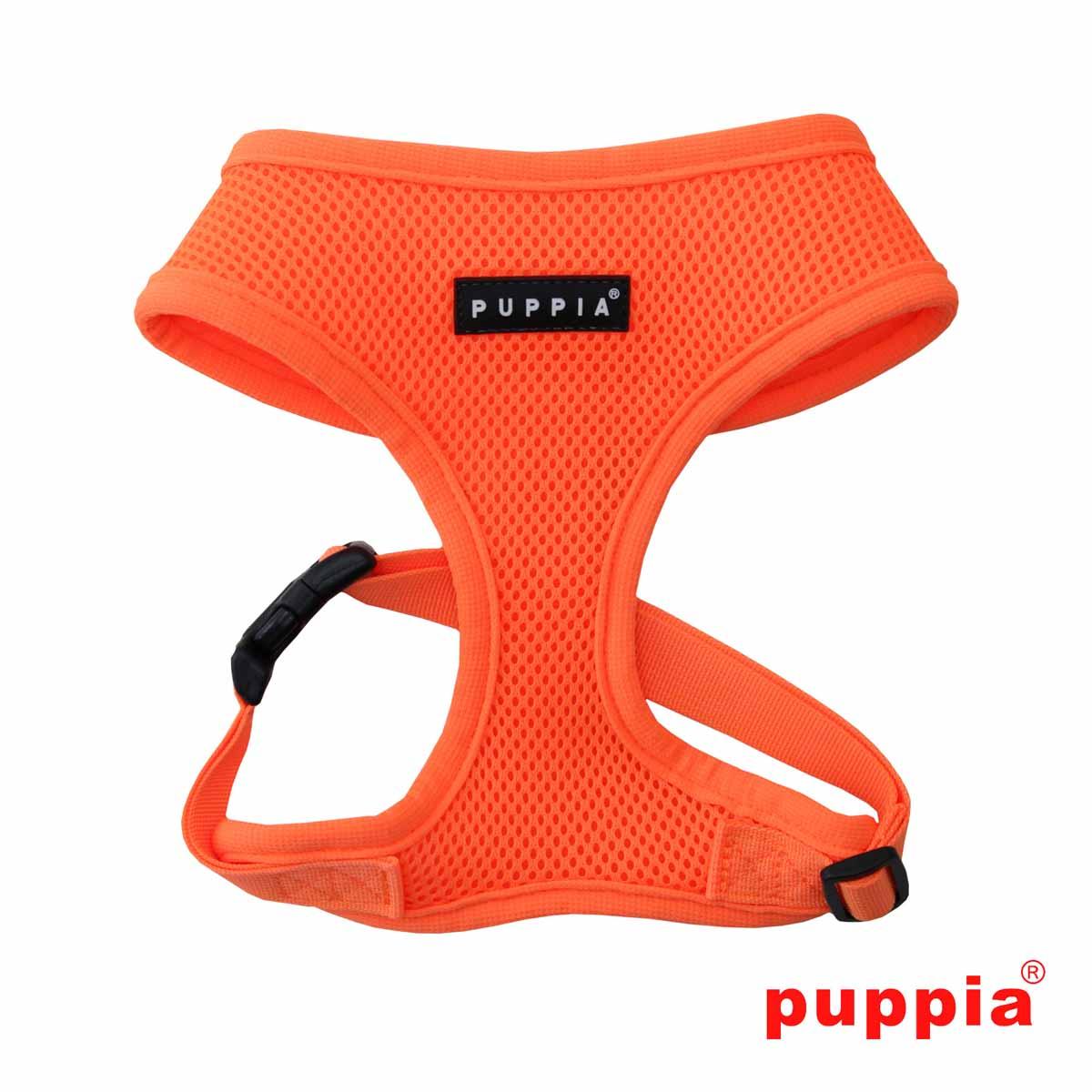 Neon Soft Adjustable Dog Harness by Puppia - Orange