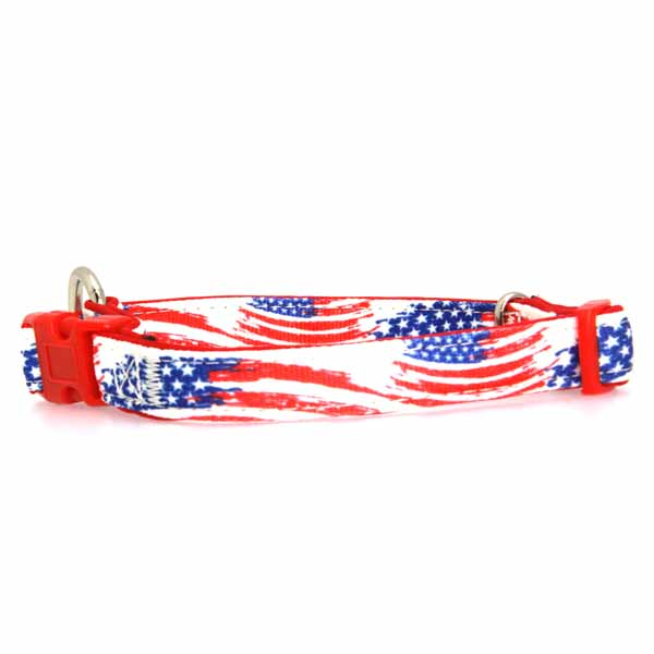 Neoprene Dog Collar - American Flag