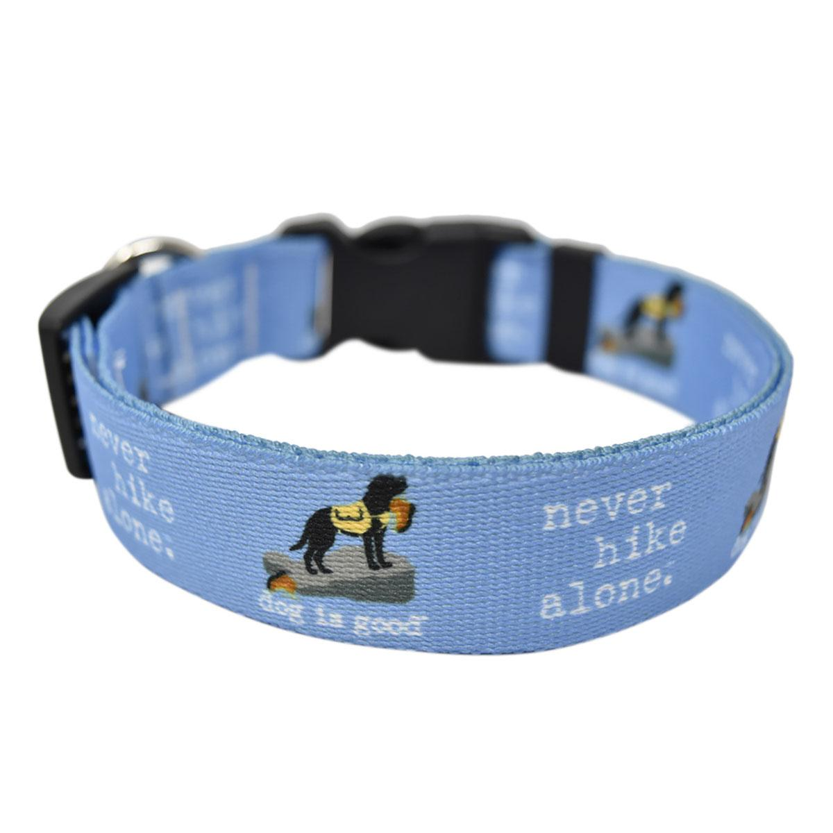 Never Hike Alone Dog Collar and Leash Collection by Dog is Good