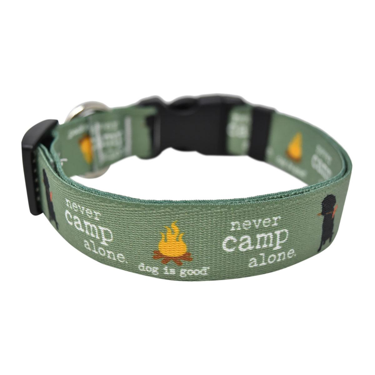 Never Camp Alone Dog Collar and Leash Collection by Dog is Good