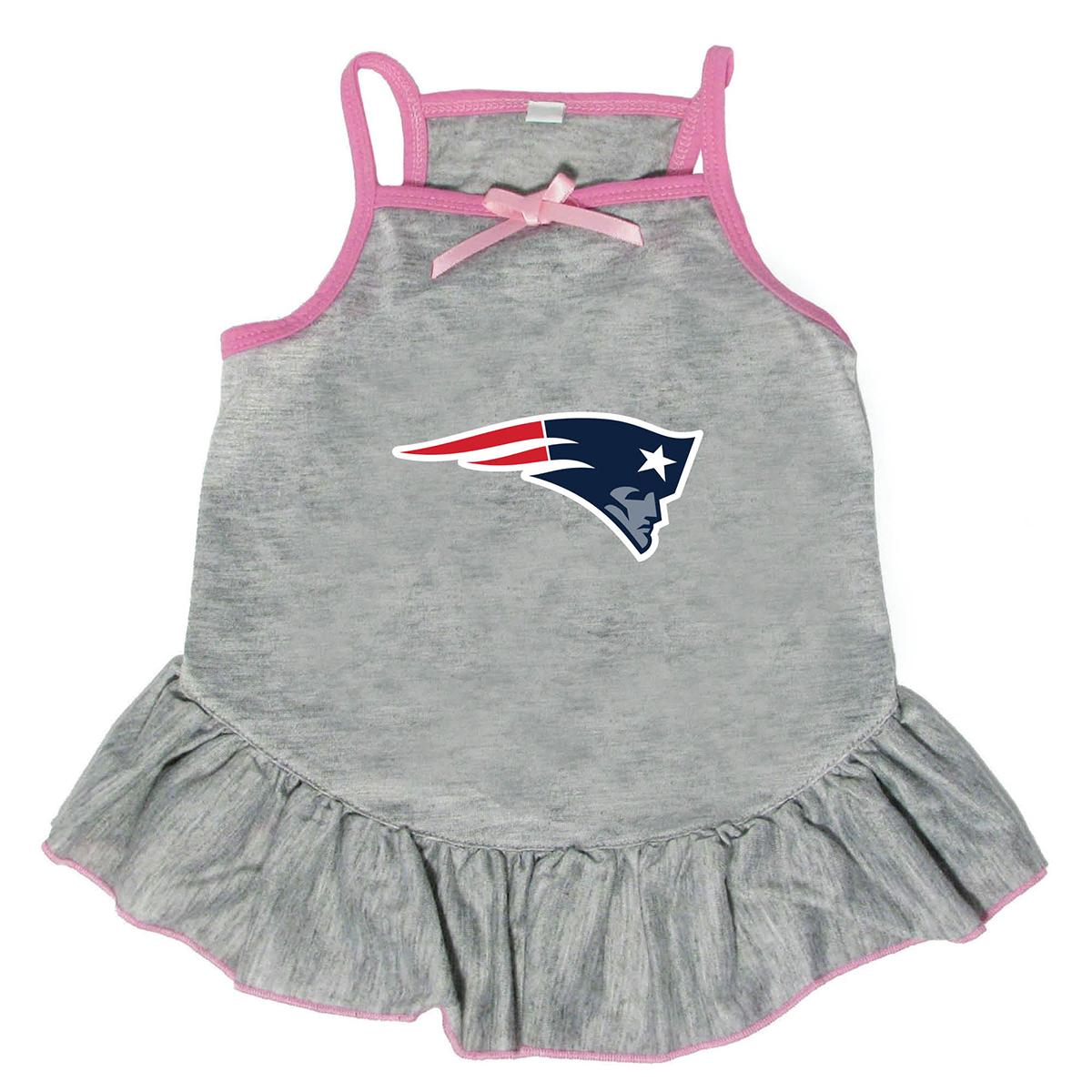New England Patriots Dog Dress - Gray