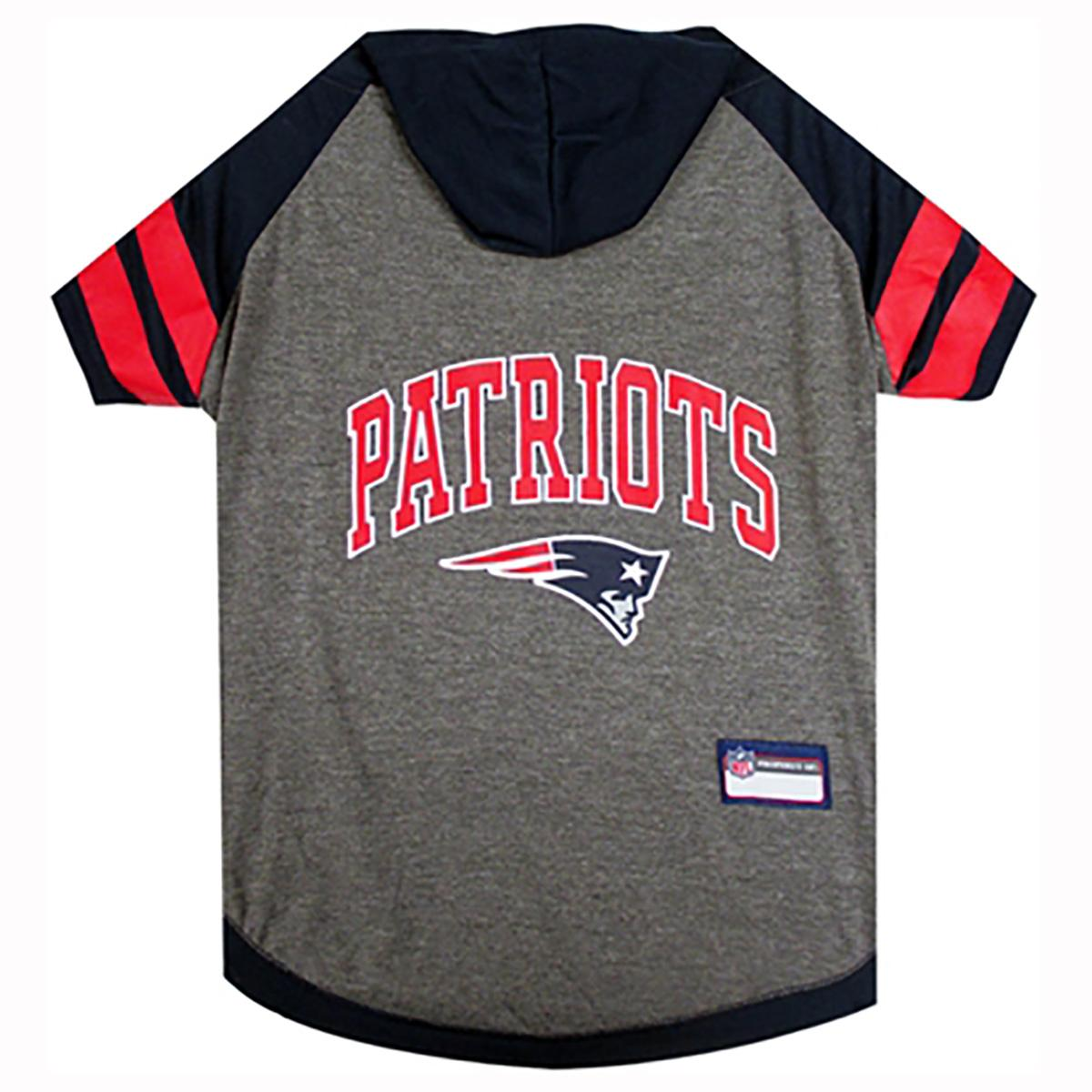 New England Patriots Hooded Dog T-Shirt
