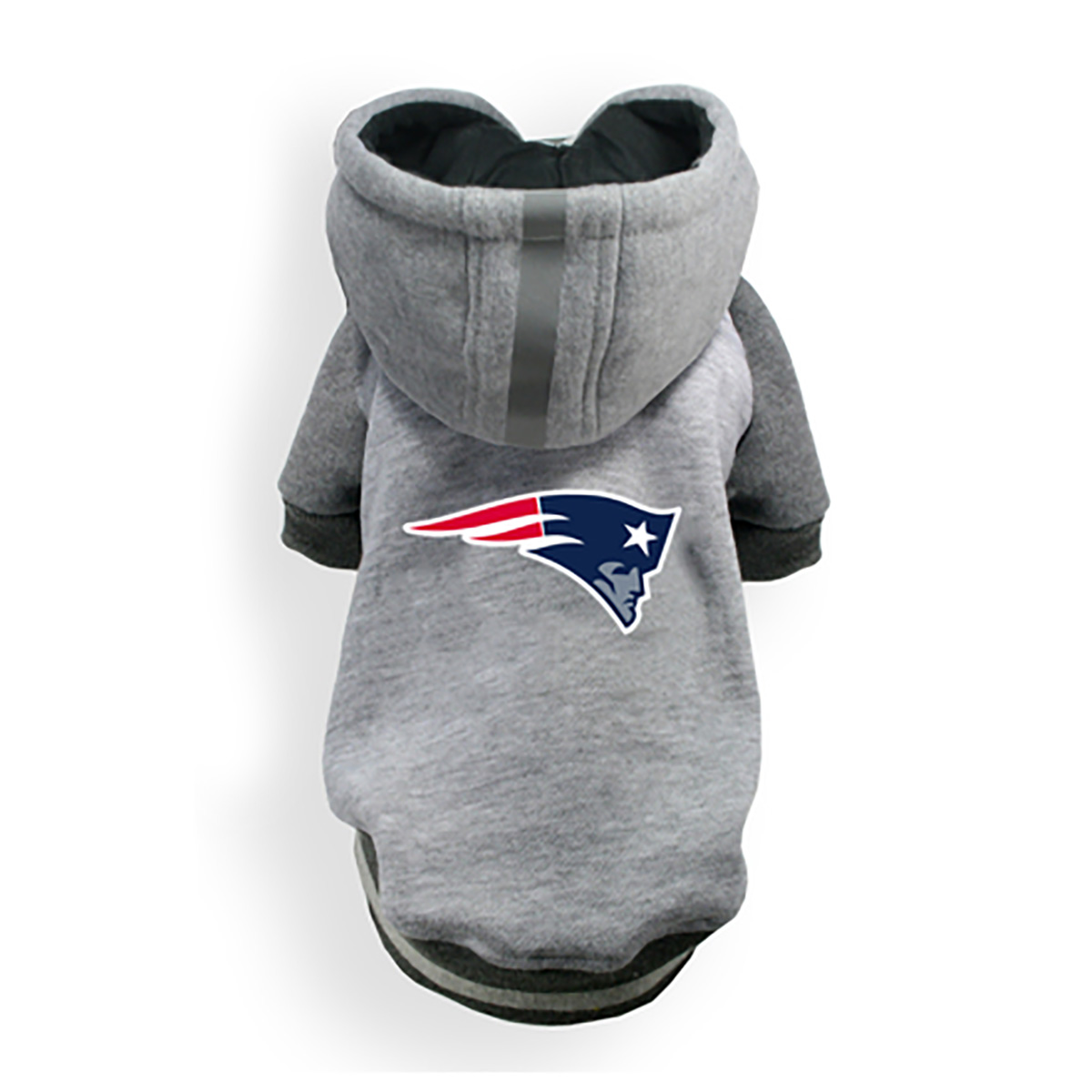 New England Patriots NFL Dog Hoodie - Gray