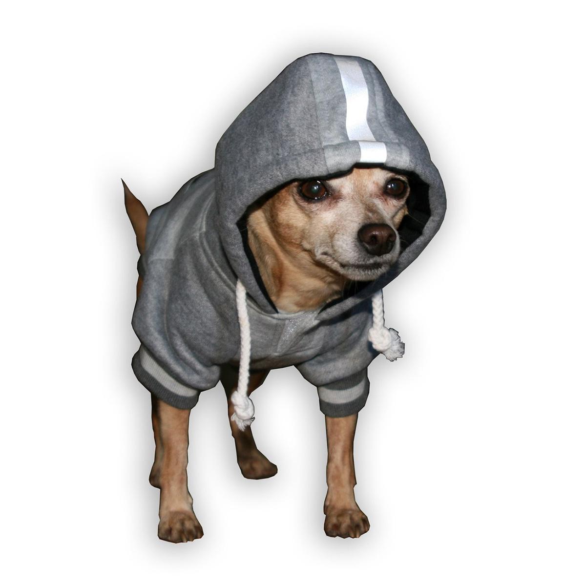the best attitude 09ead b9a1e New England Patriots NFL Dog Hoodie - Gray