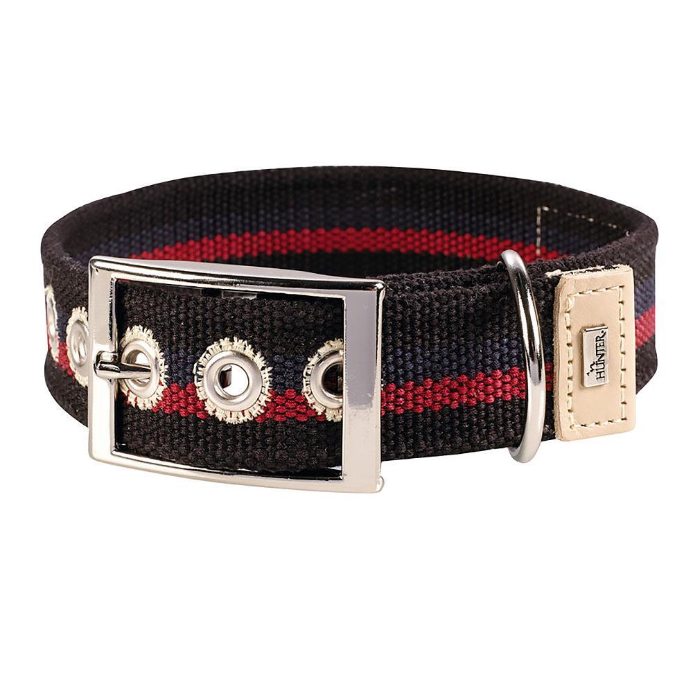 New Orleans Cotton Stripe Dog Collar by HUNTER - Black