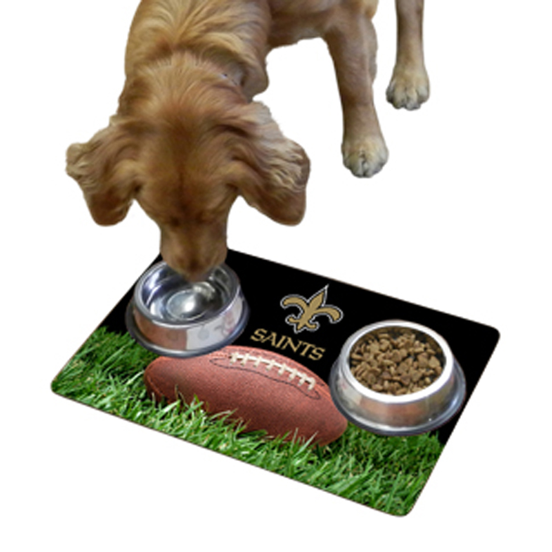 New Orleans Saints Pet Bowl Mat
