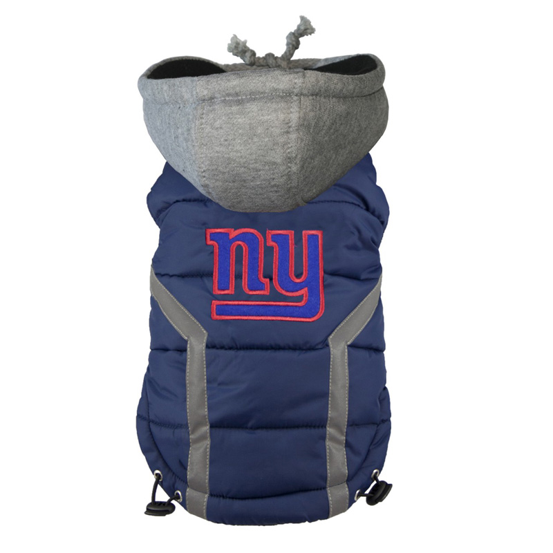 sports shoes f6130 334a7 New York Giants Dog Puffer Vest