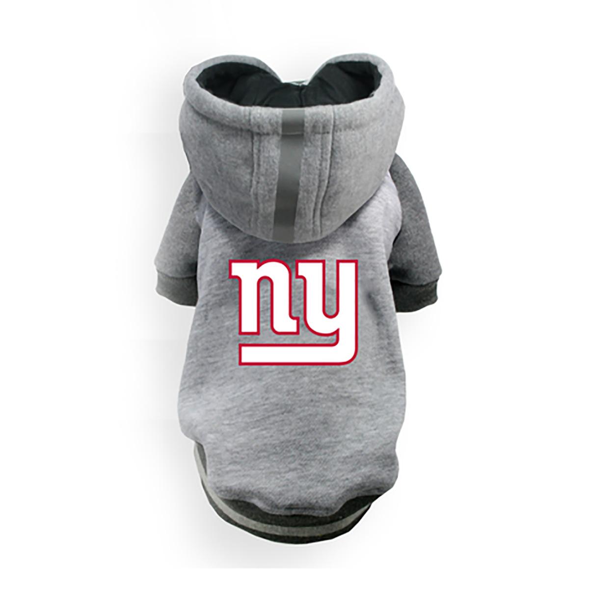 New York Giants NFL Dog Hoodie - Gray