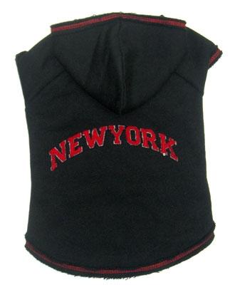 New York Dog Hoodie - Black