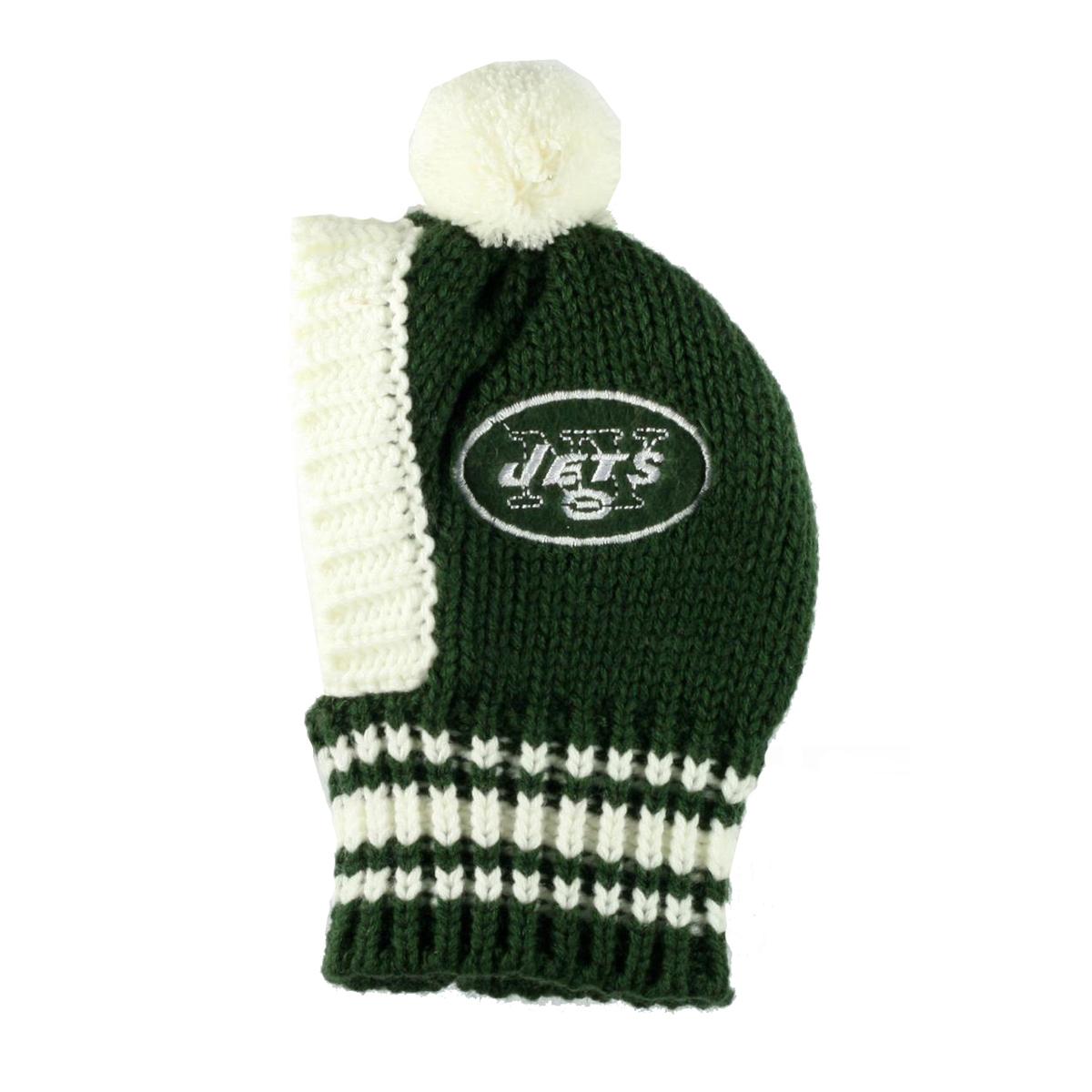 f3d4cb1af New York Jets Knit Dog Hat