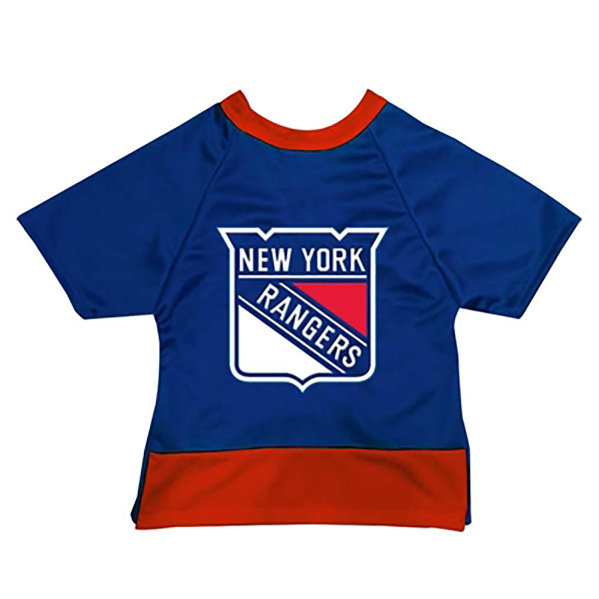 New York Rangers Mesh Dog Jersey - Blue with Red Trim