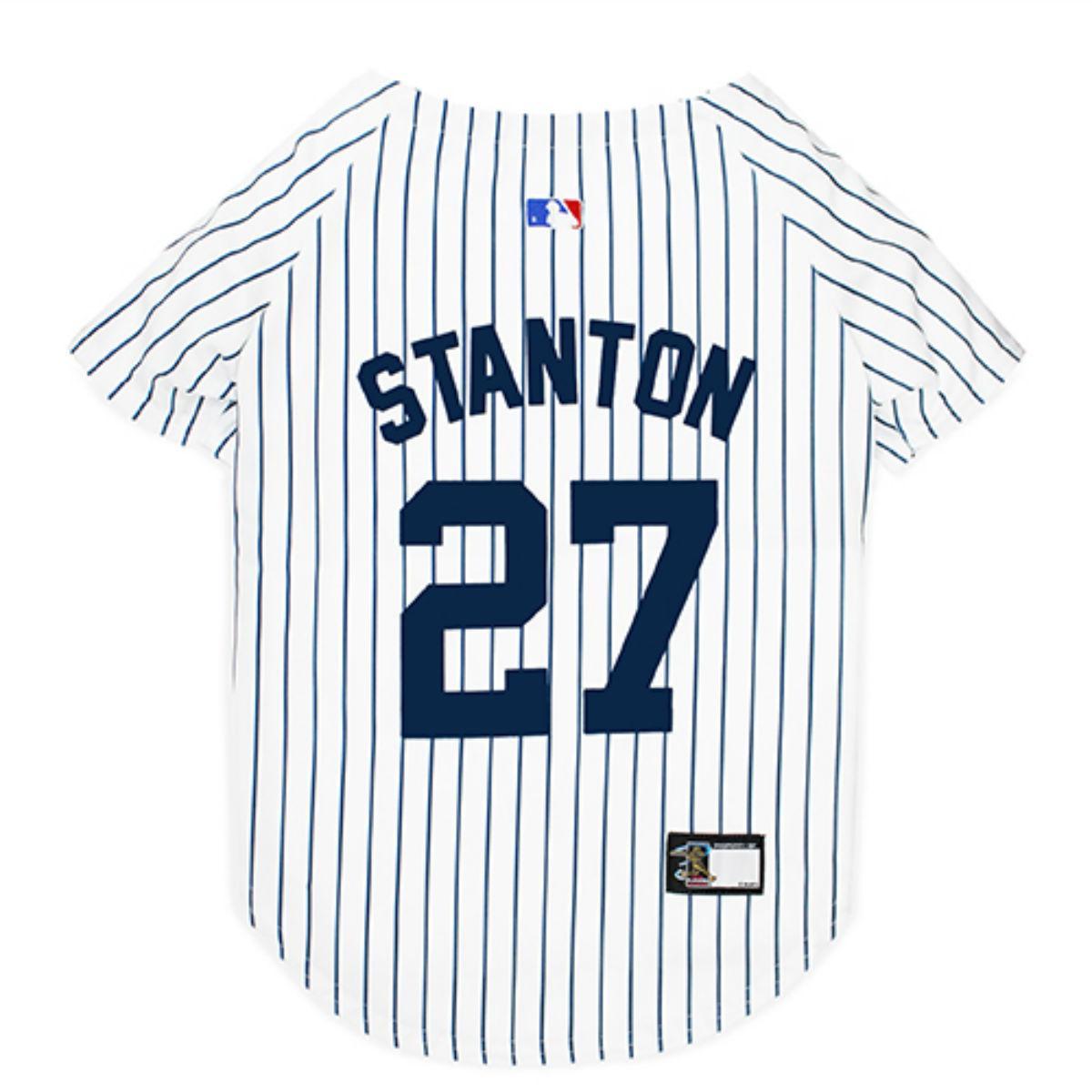 New York Yankee Giancarlo Stanton Dog Jersey - Pinstripe