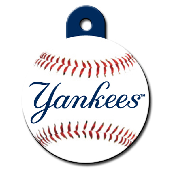 New York Yankees Engravable Pet I.D. Tag - Circle