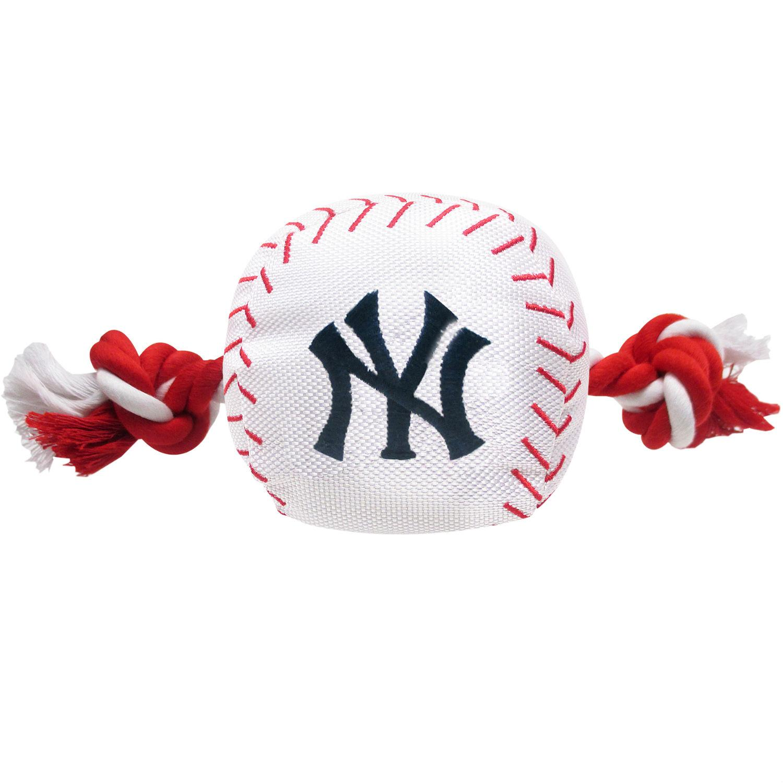 New York Yankees Nylon Plush Baseball Rope Dog Toy