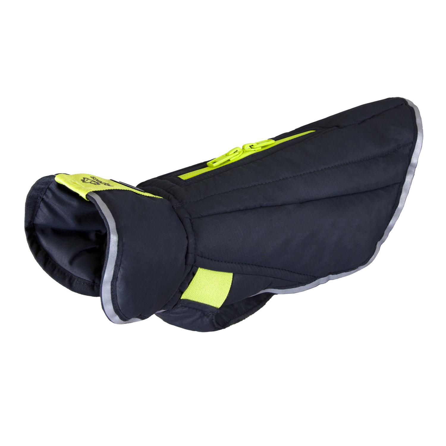 Nimbus Puffer Dog Coat - Graphite and Lime