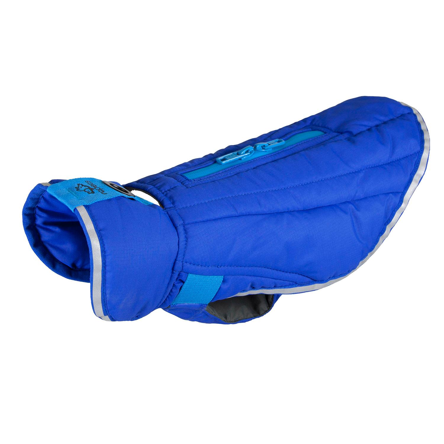 Nimbus Puffer Dog Coat - Royal Blue and Cyan