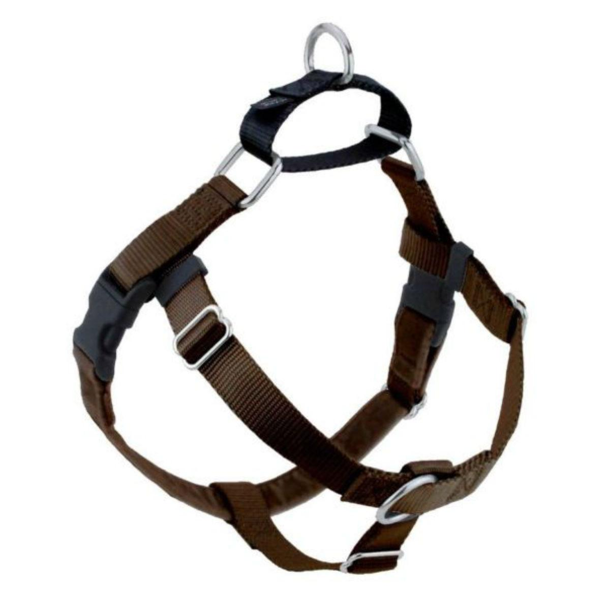 No-Pull Dog Harness Deluxe Training Package - Brown and Black