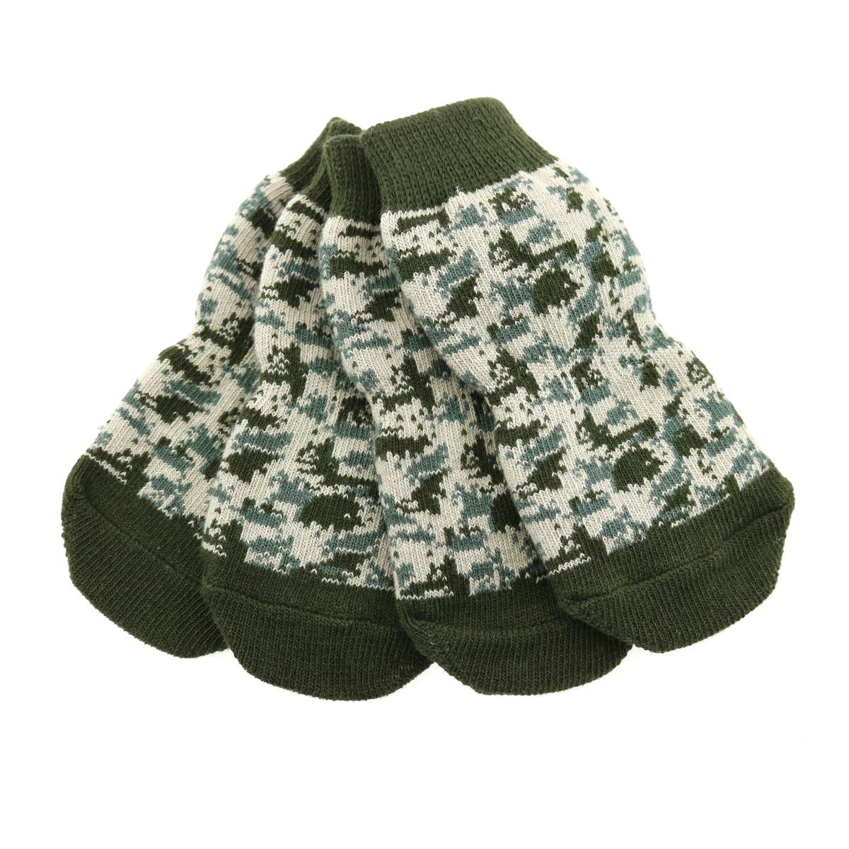 Non-Skid Dog Socks by Doggie Design - Green Camo