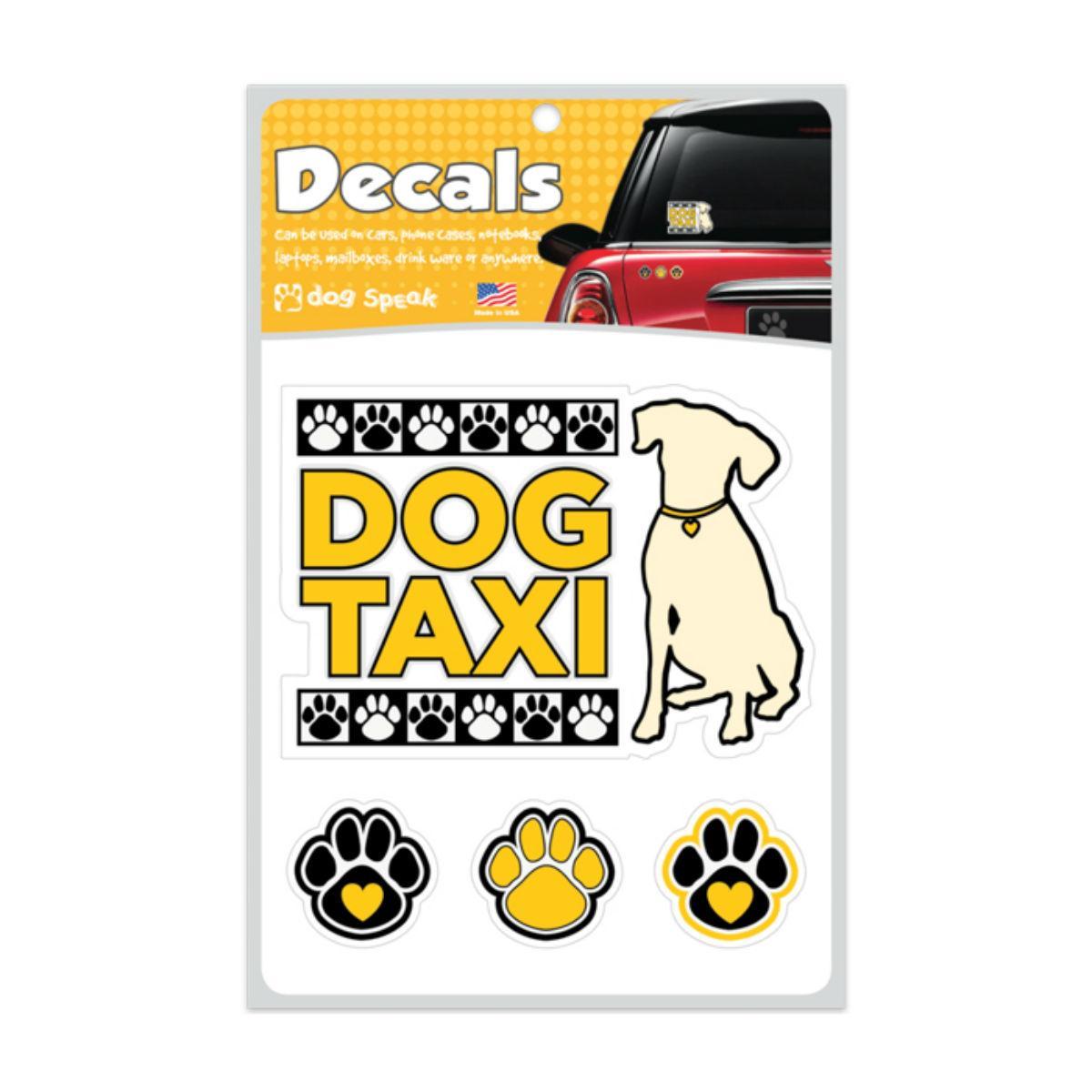 Dog Taxi Car Window Decal by Dog Speak