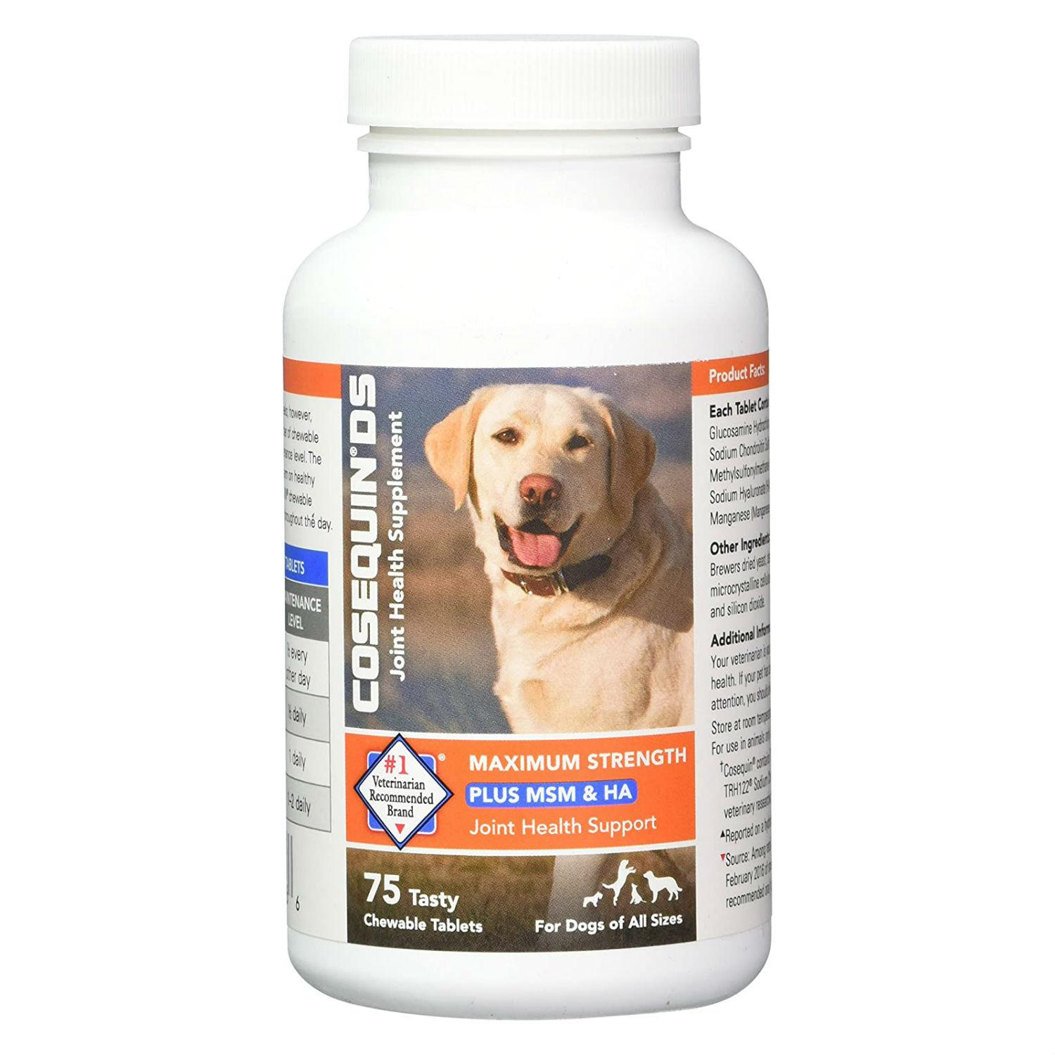 Cosequin®️ DS Plus MSM & Hyaluronic Acid (HA) Maximum Strength Dog Joint Health Supplement by Nutramax®️