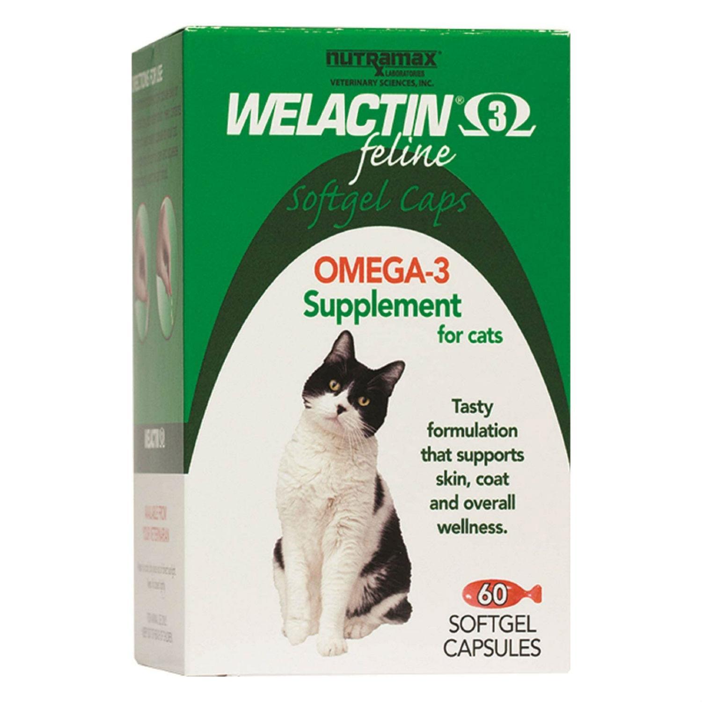 Welactin®️ Feline Omega-3 Softgel Capsules Cat Supplement by Nutramax®️