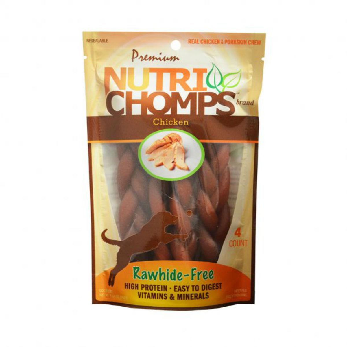 Nutri Chomps Braid Dog Treats - Chicken