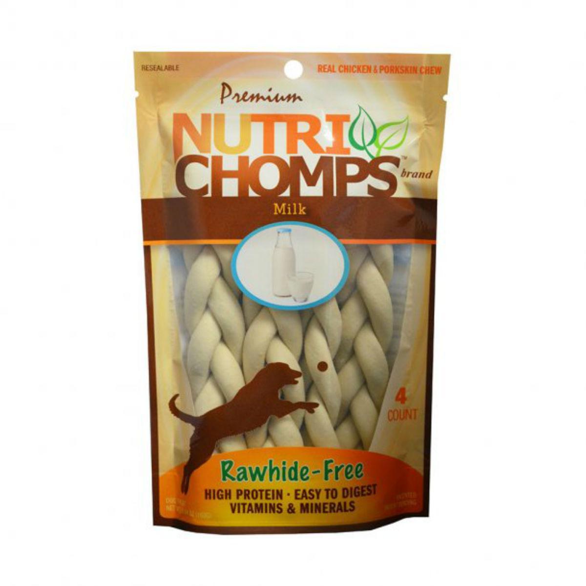 Nutri Chomps Braid Dog Treats - Milk