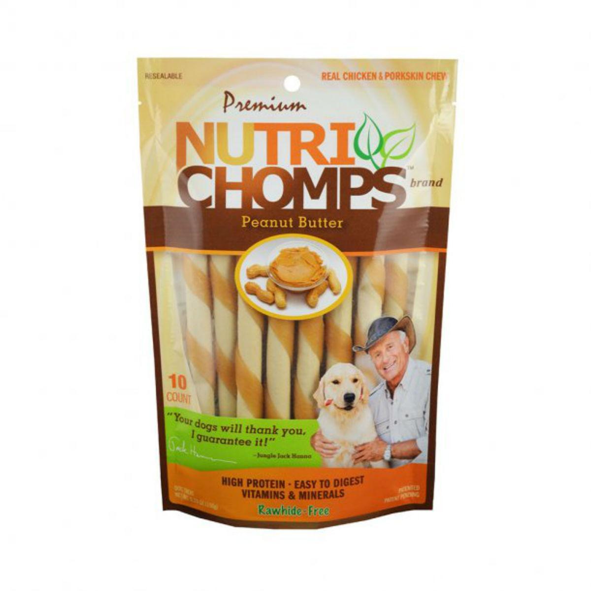 Nutri Chomps Twists Dog Treats - Peanut Butter