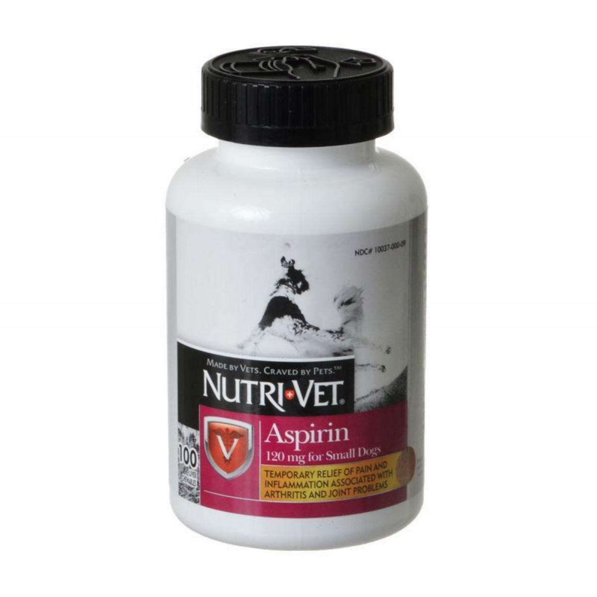 Nutri-Vet K-9 Buffered Aspirin Small Dog Chewable Tablet