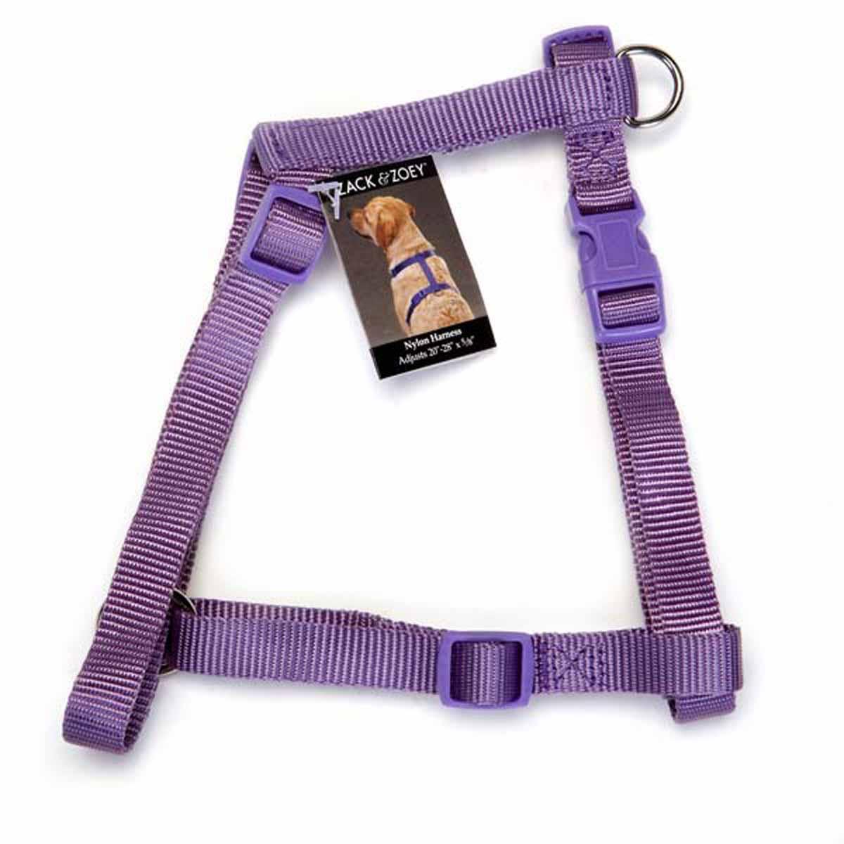 Nylon Dog Harness by Zack & Zoey - Light Plum